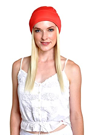 chemo hats women stylish scarves hair attach baseball cap attached