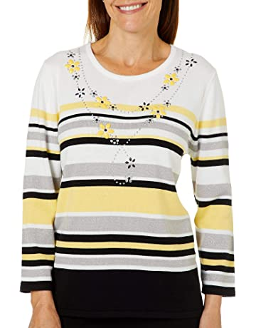 77cb0f032a Alfred Dunner Petite Native New Yorker Striped Sweater