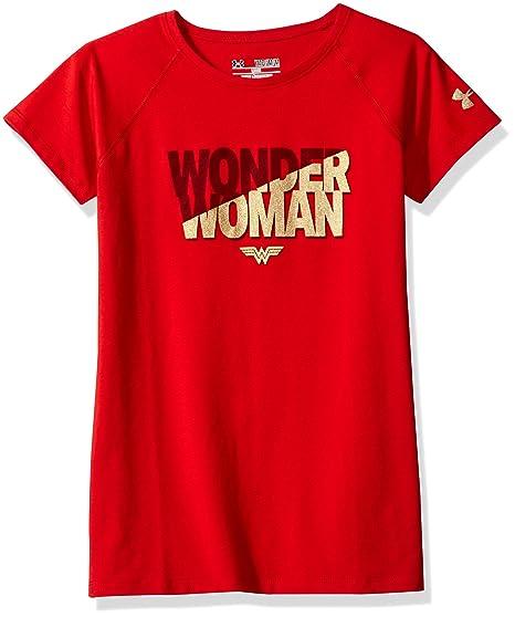4a5c82b5 Amazon.com: Under Armour Girls' Alter Ego Wonder Woman Short Sleeve ...