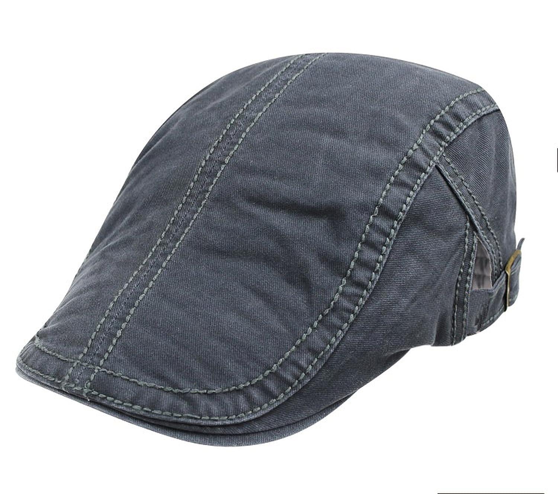 Attack Solid Summer Berets Men Ivy Hat Pure Cotton Flat Peaked Cap Women  Beret Plain Hats Beret caps 2c56f171589