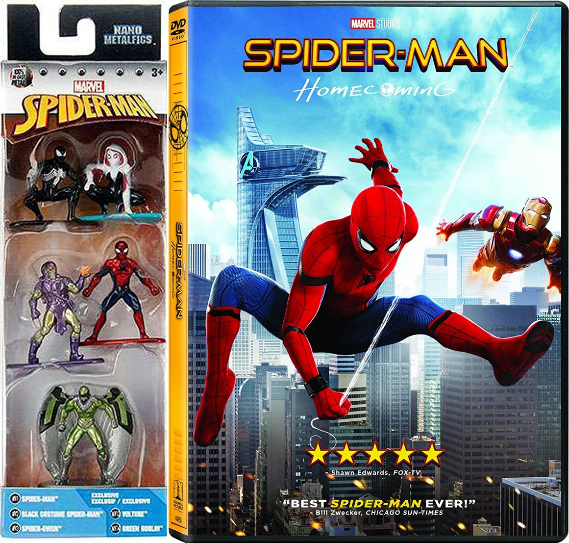 Amazon Com Spider Man Figure Collection Homecoming Pack Movie Dvd