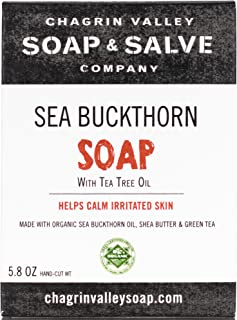 product image for Chagrin Valley Soap & Salve - Organic Natural Soap Bar - Seabuckthorn & Tea Tree Soap