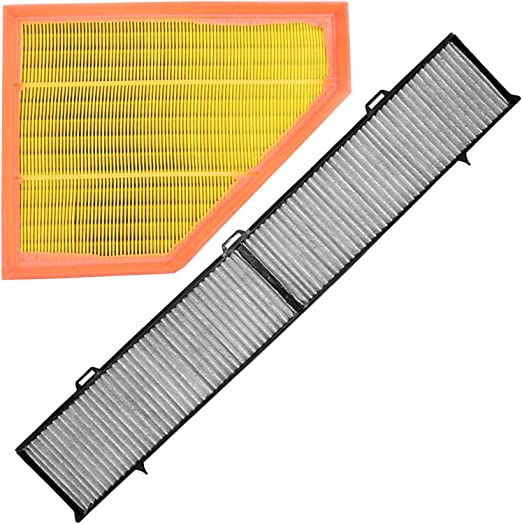 1x Set Innenraumfilter Pollenfilter Mit Aktivkohle 1x Luftfilter Auto