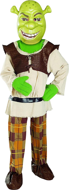 Amazon Com Shrek Child S Deluxe Costume And Mask Shrek Costume Toys Games