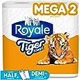 Royale Tiger Strong Paper Towel, 2 Mega Rolls, 2-Ply, 138 Handy Half Sheet per Rolls