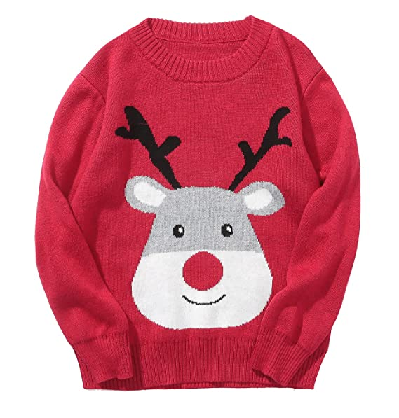 baby boys girls ugly christmas sweater 1deer red 4t
