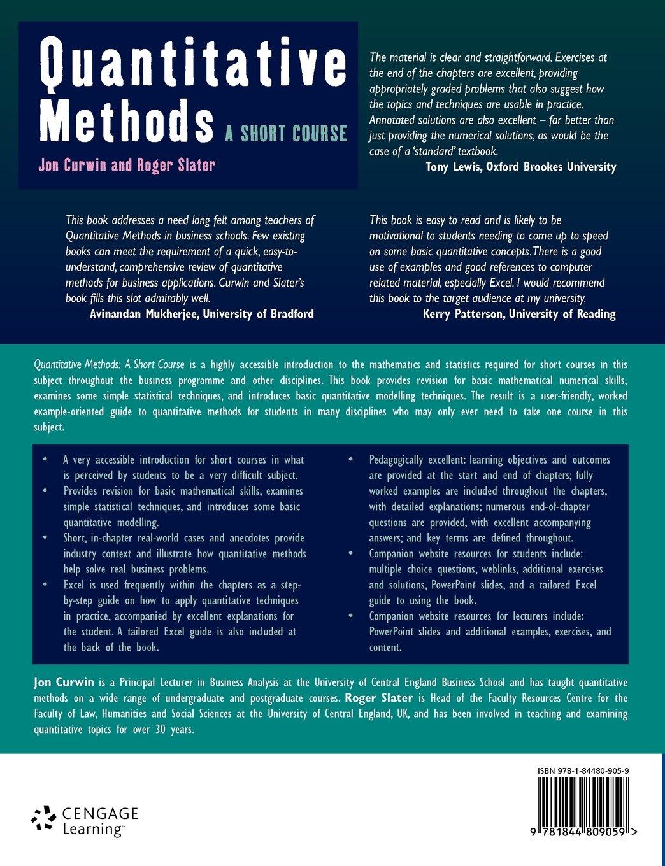 quantitative methods help
