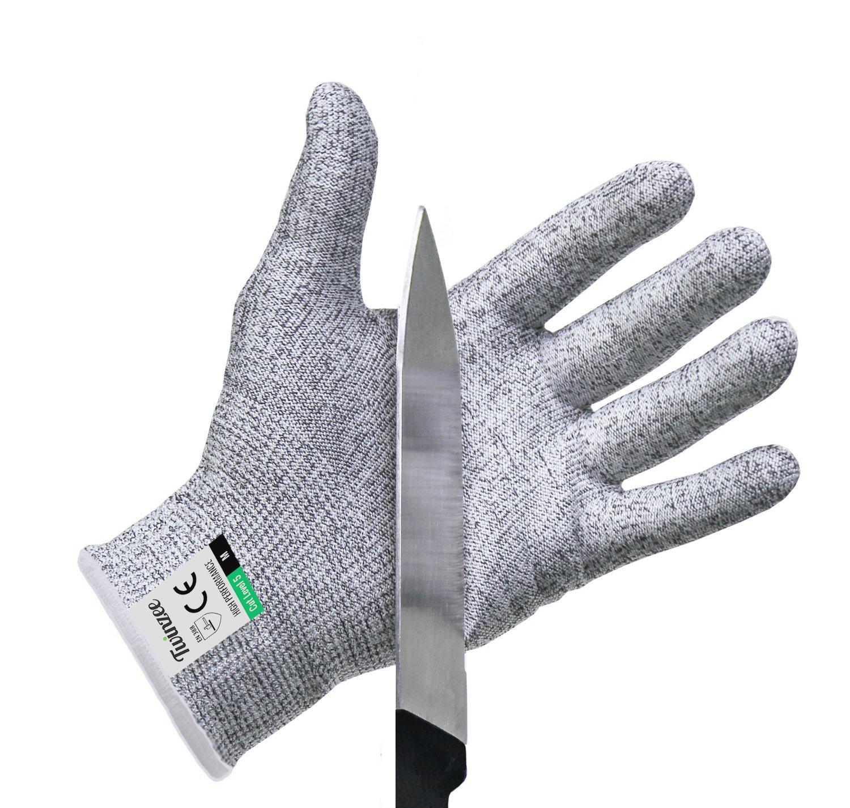 Paire de gants anti coupures Twinzee - Protection de niveau 5 conforme à la  norme EN 8eaccd9b929