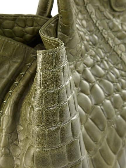 eaf44f9bbf70 LIEBESKIND Chelsea Croco Tasche One Size grün  Amazon.de  Schuhe    Handtaschen