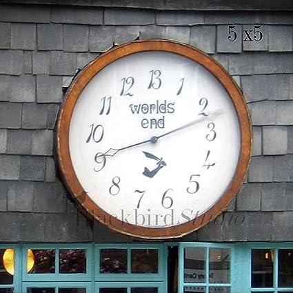 b681fd61f6 Worlds End Clock Vivienne Westwood Shop, London Fine Art Photograph 5 X 5  Inches Limited Edition Print - Blackbird Studio: Amazon.co.uk: Kitchen &  Home