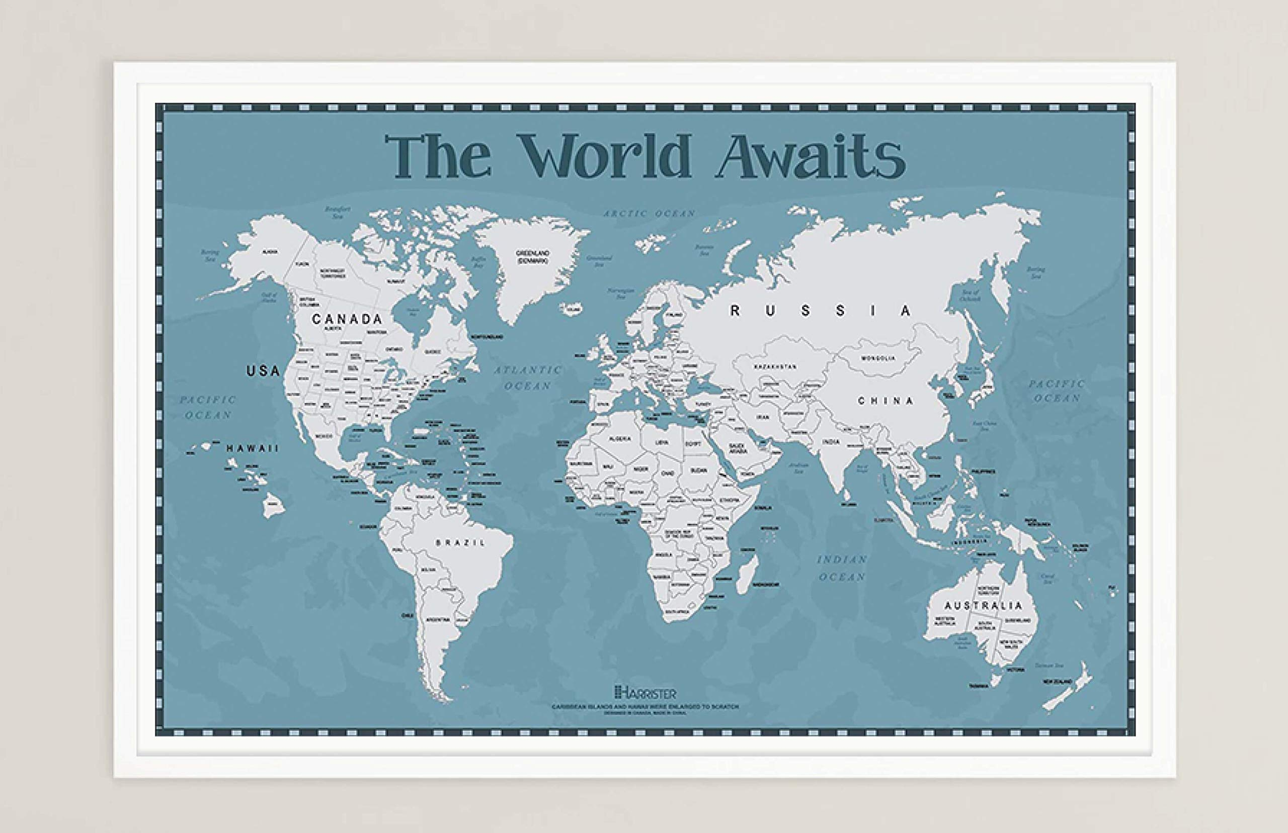 Scratch Off World Map - Large 34in x 22in – Canadian ...
