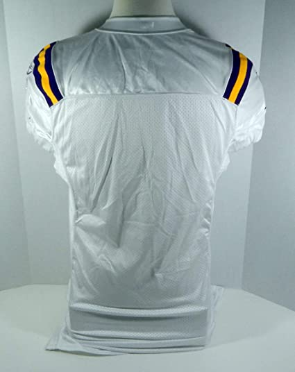6d50d371594 Minnesota Vikings Blank # Game Style White Jersey VIKSNC00501 - Game ...