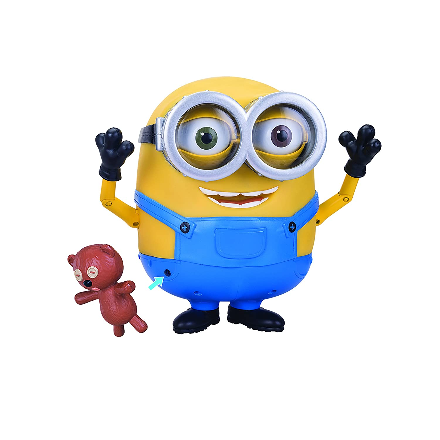 amazon com minions bob interacts with teddy bear toys u0026 games