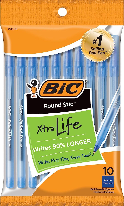 Bo/îte de 60 /& Basics Bo/îte de 150 crayons /à papier pr/étaill/és HB n/°2 BIC Round Stic ECOlutions Stylos-Bille Bleu