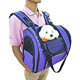 Sac à dos pour chat/chien approuvé pour transport aérien Port à l'avant ou sur le dos Pour extérieur/marche/randonnée Pour animal pesant jusqu'à 4 kg