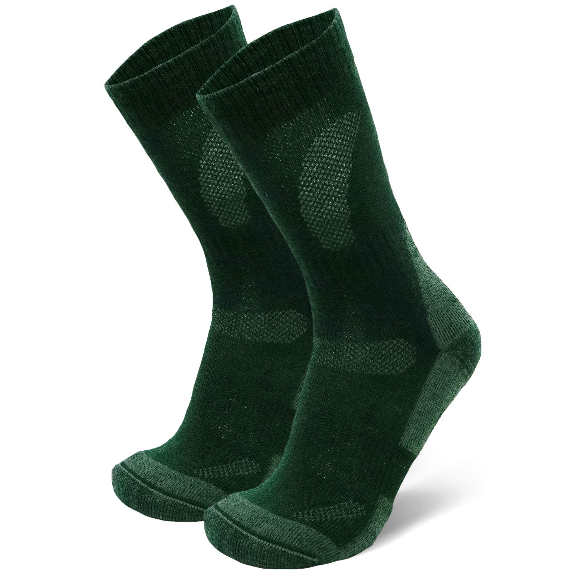 Merino Wool Hiking & Trekking Socks (Forest Green 1 Pair, US Women 5-7 // US Men 3.5-6) by DANISH ENDURANCE