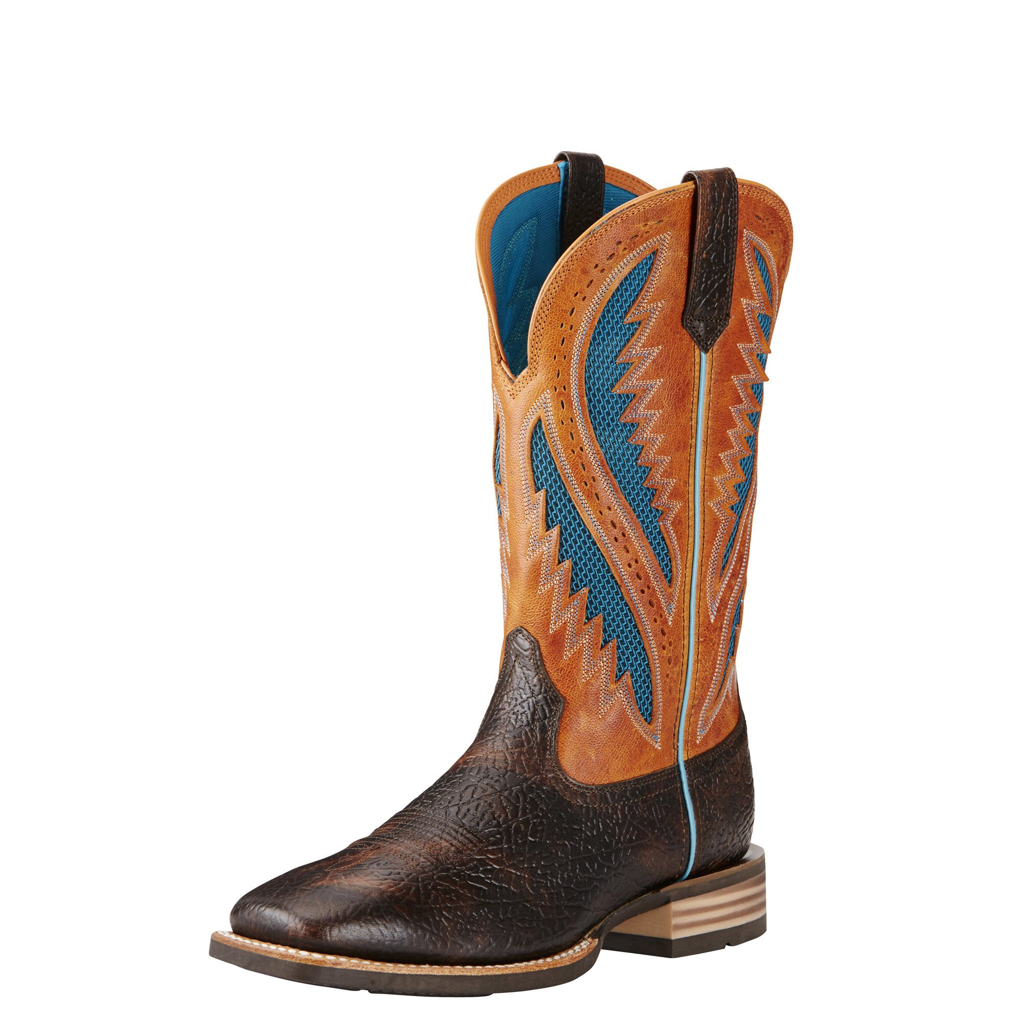 Ariat Men's Quickdraw Venttek Western Cowboy Boot, Glazed Bark, 9.5 D US