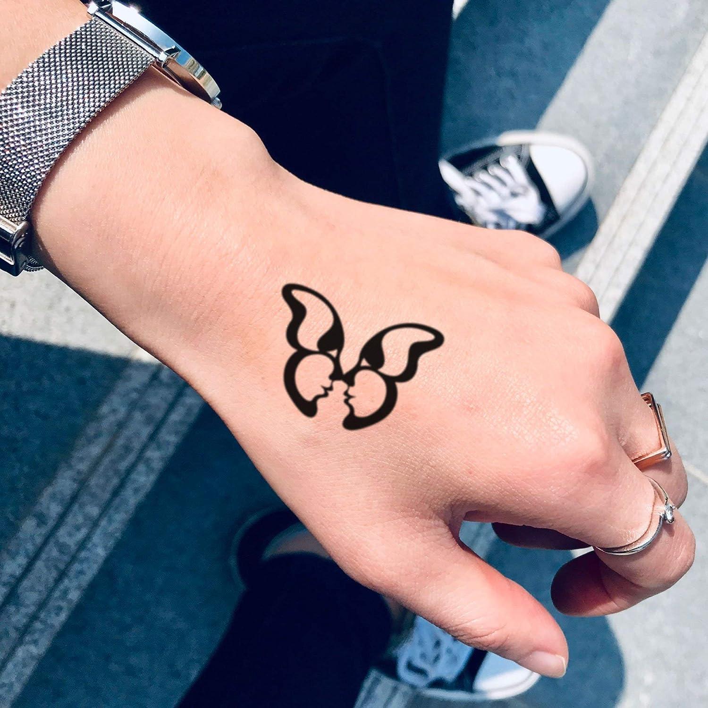 Amazon Com Butterfly Kisses Temporary Tattoo Sticker Set Of 2
