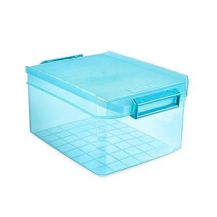 Tatay 1150119 Caja de Almacenamiento Multiusos con Tapa, 14 l de Capacidad, Plástico Polipropileno