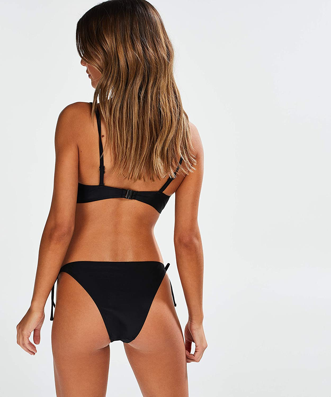 HUNKEM/ÖLLER Damen Tanga Bikini-Slip Makramee