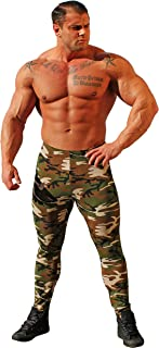 product image for Physique Bodyware Men's Camouflage Tights Workout Leggings. Made in America