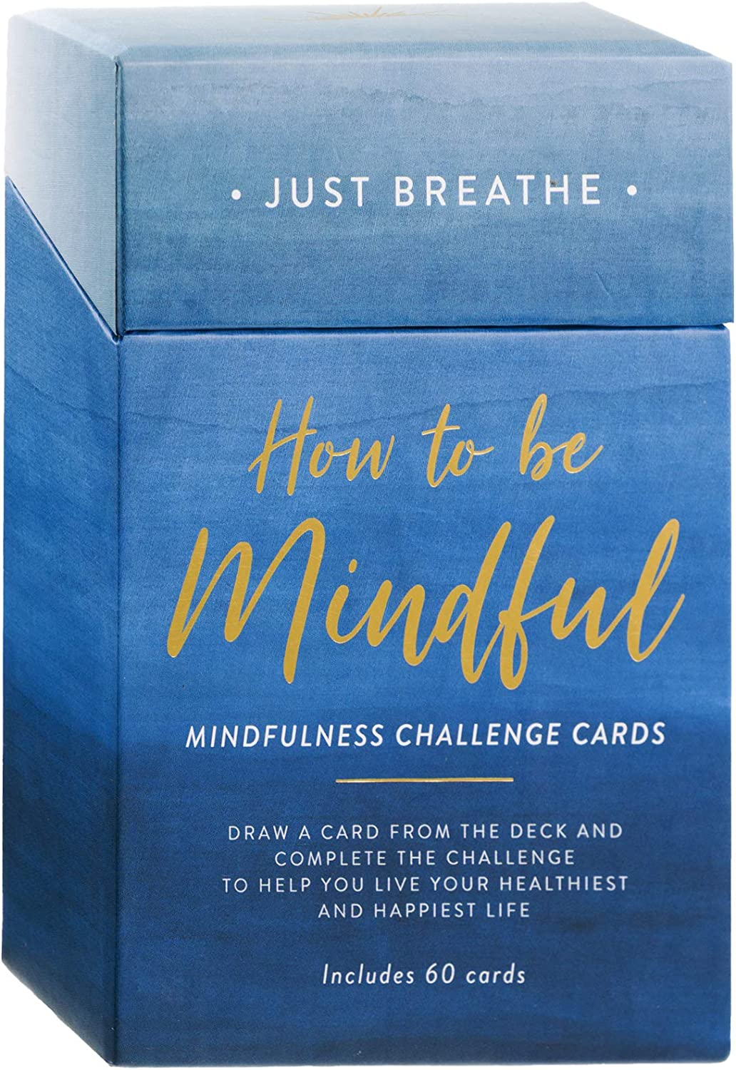 Eccolo How to be Mindful Challenge Cards - 60 Mindfulness Cards - Self Care Cards for Daily Positive Thoughts and Affirmations - Mindfulness Gifts & Affirmations Cards