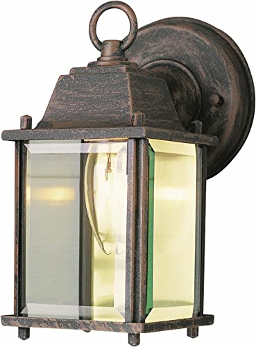 Trans Globe Lighting Trans Globe Imports 40455 BG One Light Wall Lantern from Patrician Collection 6.00 inches, Black Gold