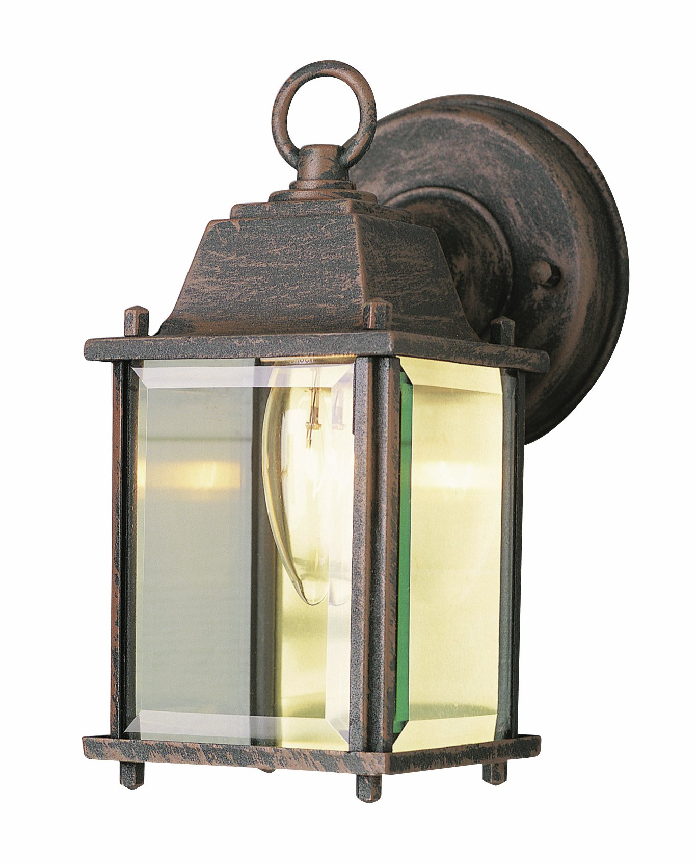 Trans Globe Lighting 40455 RT Outdoor Patrician 8'' Wall Lantern, Rust