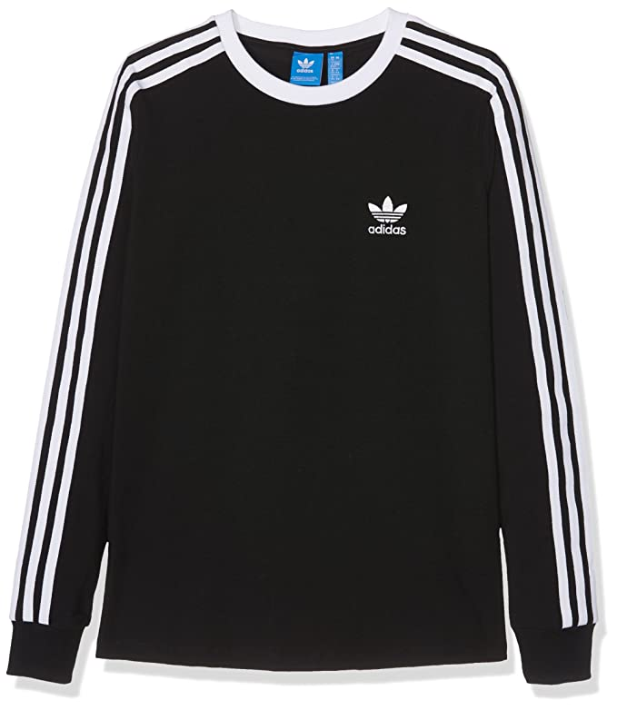 Adidas Camiseta Manga Larga para Mujer, Mujer, 3-Stripes, Negro, 44: Amazon.es: Deportes y aire libre