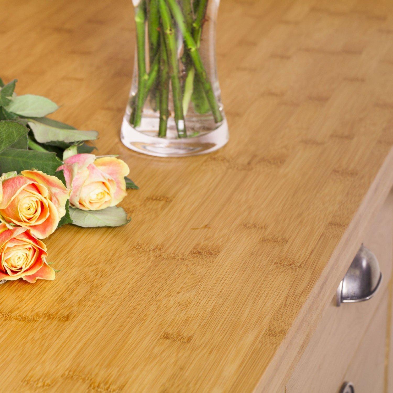 WORKTOPEXPRESS Solid Caramel Bamboo Timber Block Worktops 2000mm x 620mm x 40mm