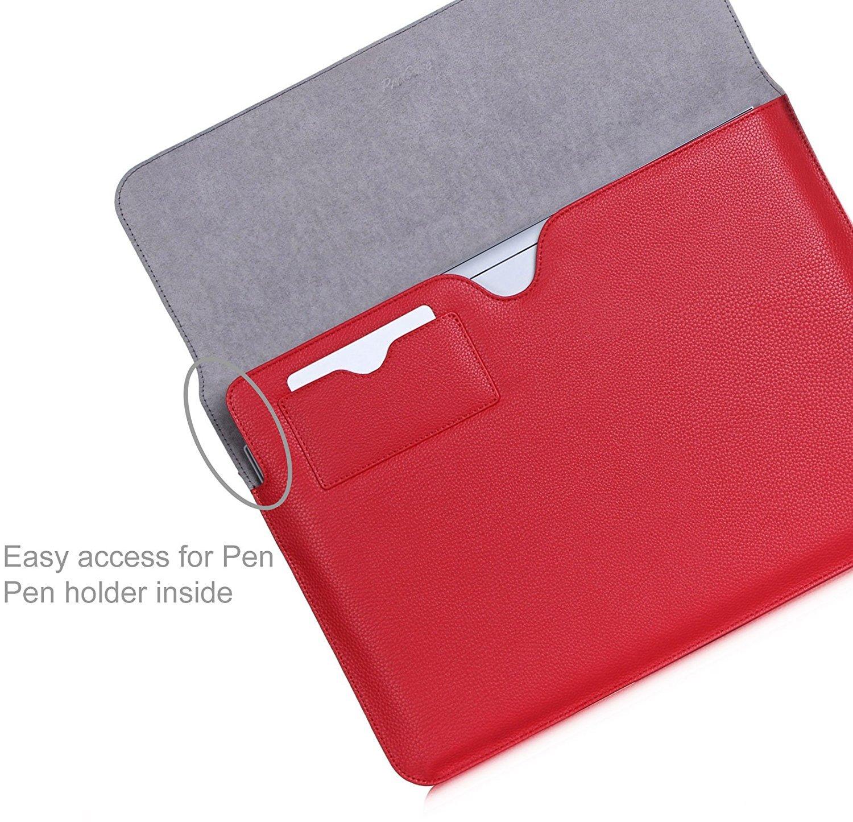 -Noir Microsoft Surface Book MacBook Pro 13 Case Sleeve ProCase Sleeve Housse pour MacBook Pro 33 cm 2016//Pro Retina//MacBook Air//33,8 cm Surface Book Tablette pour Surface Book 2015