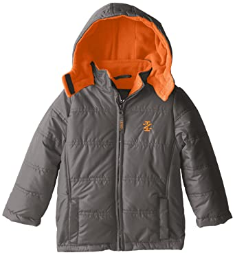 aec477c7e Amazon.com  IZOD Little Boys  Hooded Puffer Coat with Contrast ...