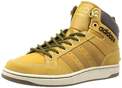 Adidas Mi Chaussures Cuir Hoops En Q38653 Marron Neo v8Nn0mw