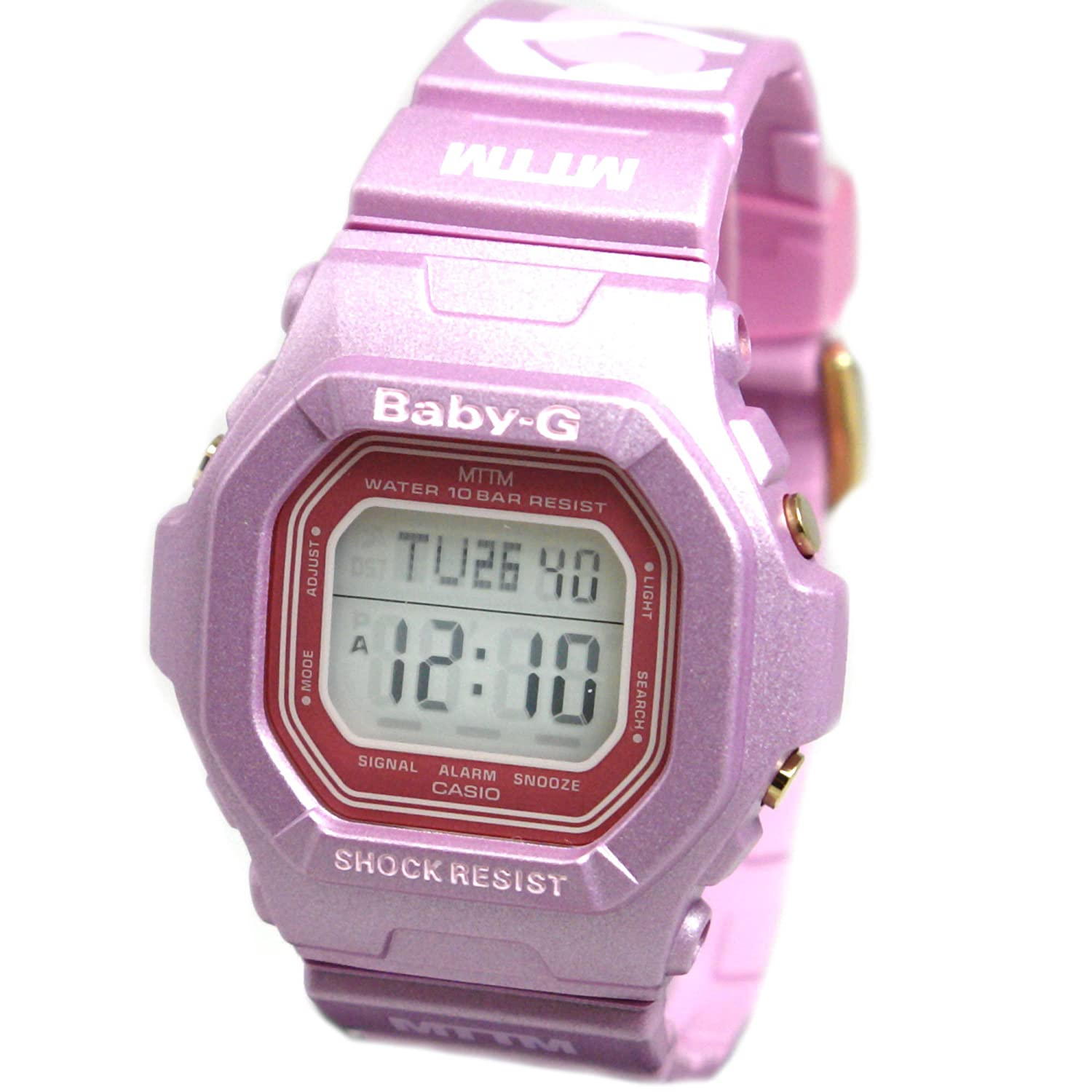 Casio Baby-G Married to the Mob – Digital Display – Pink Strap – World Time W…