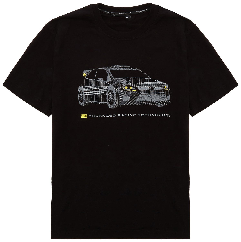 OMP ompor5915071 X L Maglietta OMP Rally, colore: nero, taglia XL OMPOR5915071XL