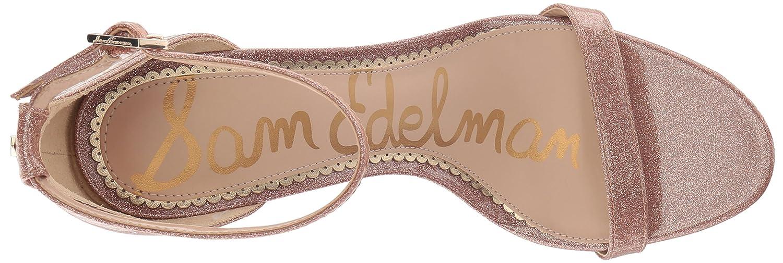 Sam Edelman B07BRB347Q Women's Patti Heeled Sandal B07BRB347Q Edelman 5.5 B(M) US|Nude Glitter Patent 694023