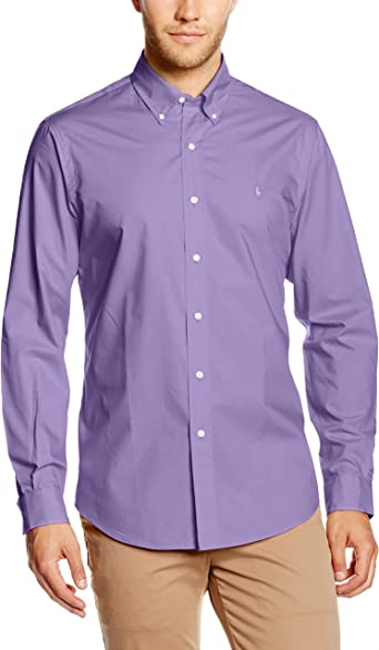 Polo Ralph Lauren Camisa Hombre Wovens Sport Violeta S ...