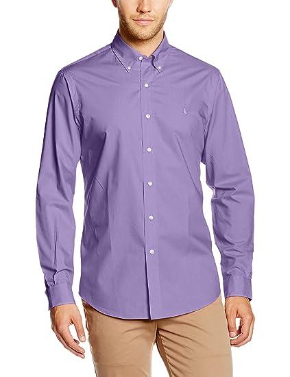 Polo Ralph Lauren Camisa Hombre Wovens Sport Violeta S: Amazon.es ...