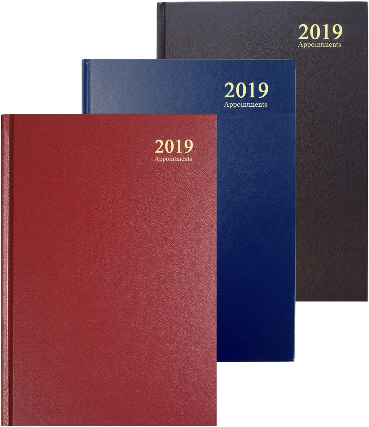 Maroon Collins Essential A5 Week to View 2019 Diary