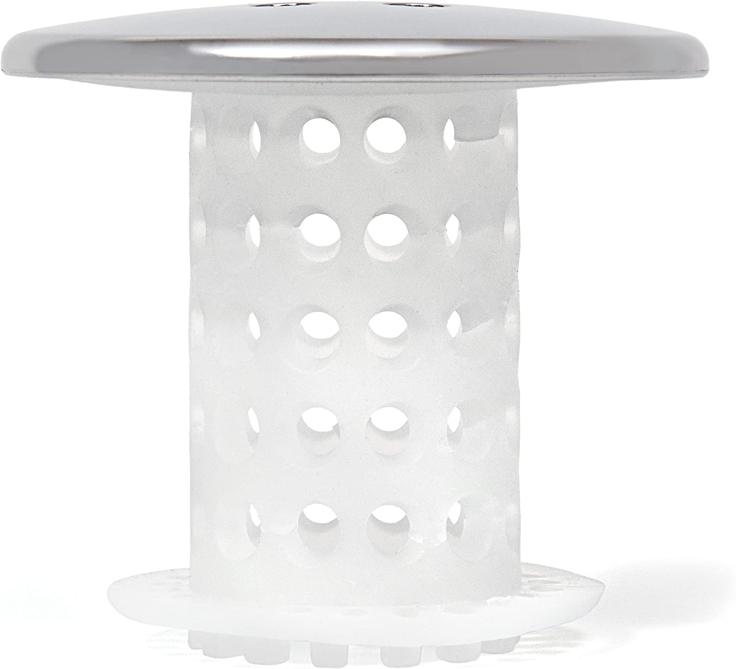TubShroom Chrome Edition Revolutionary Tub Drain Protector Hair Catcher, Strainer, Snare: Home & Kitchen