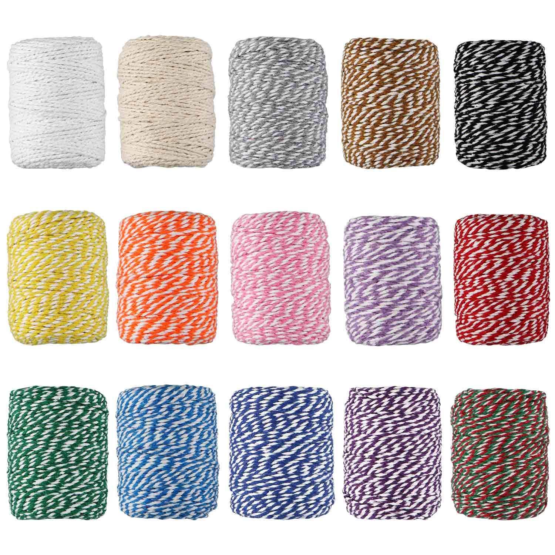 papel de regalo guita 15 rollo cuerda de yute hilo de hilo para obras de arte 2 mm 3 capas colorido hilo de yute natural manualidades bricolaje 1230 pies 410 yardas