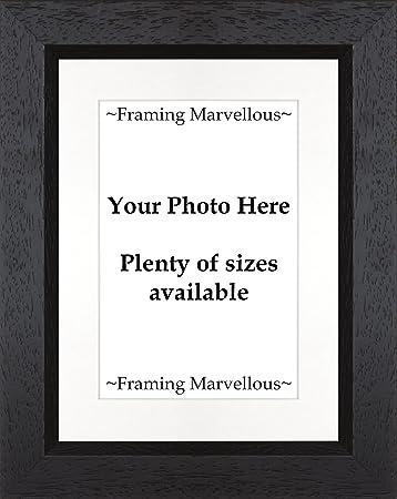 Amazon Framing Marvellous Black Wooden Photo Picture Frame