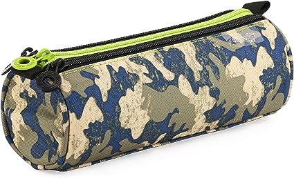 Fresh Fashion 59501 - Portatodo Triple Redondo de Amplios Apartados Interiores, Estuche Multiuso para Material Escolar. Diseño Boys Jungle, Medidas 22.5 x 8 x 8 cm: Amazon.es: Oficina y papelería
