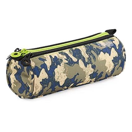 Fresh Fashion 59501 - Portatodo Triple Redondo de Amplios Apartados Interiores, Estuche Multiuso para Material Escolar. Diseño Boys Jungle, Medidas ...