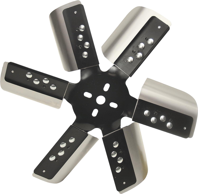 """Derale 17015 Heavy Duty Fan Blade Series 1000 15"""" Stainless Steel Flex Fan Standard Rotation"""