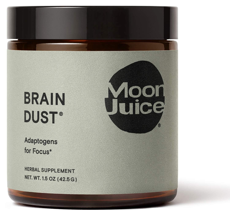 Moon Juice - Brain Dust - Focus & Concentration - Natural Mushroom Based Adaptogenic Powder Supplement - Lion's Mane, Ashwagandha, Rhodiola & Maca - Vegan, Non-GMO, Gluten-Free, Caffeine-Free (1.5oz)