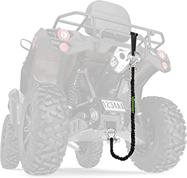 Tow Rope for Four Wheeler 9000lb Synthetic Rope with Loops UTV Premium Mudding Accessories Side by Side Mud Bandit ATV Recovery Strap with Winch Hook and D Ring Shackle Quad