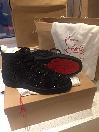 213b1c3305e6 Christian Louboutins Black Strass Mens Flat Strass  Amazon.co.uk  Shoes    Bags