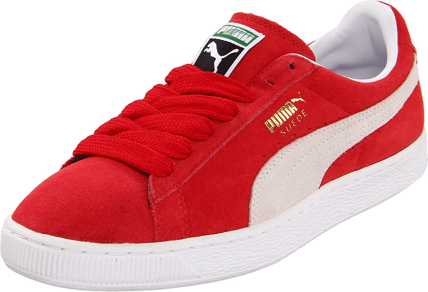 PUMA Adult Suede Classic Shoe B0058XIF60 9 M US|Team Regal Red/White