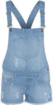 Denim State Mono Pantalones de Peto para niña